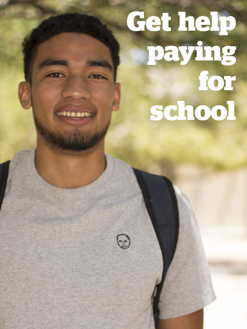 Get Help Paying for College - male student at Downtown Campus